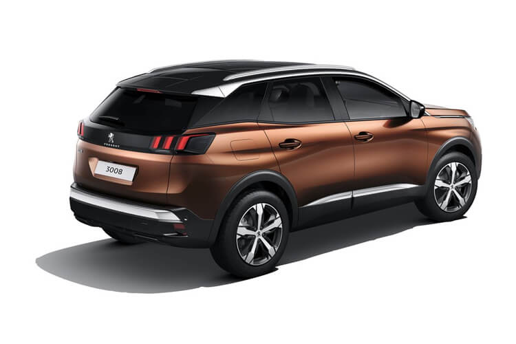 Peugeot 3008 SUV HYBRID 1.6 PHEV 13.2kWh 225PS GT Premium 5Dr e-EAT [Start Stop] back view