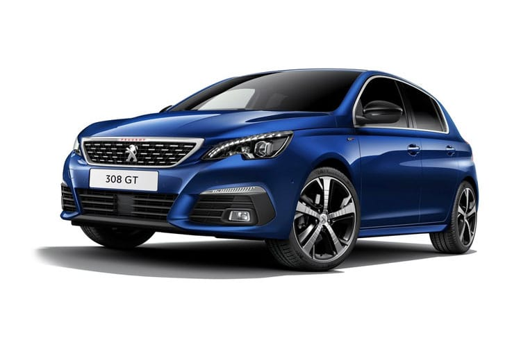 Peugeot 308 Hatch 5Dr 1.5 BlueHDi 130PS GT 5Dr EAT8 [Start Stop] front view