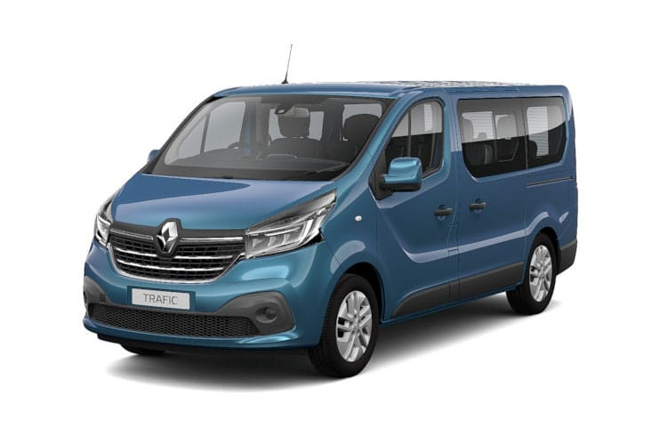 Renault Trafic 28 SWB MiniBus M1 2.0 dCi FWD 170PS SpaceClass Minibus EDC [Start Stop] [8Seat] front view