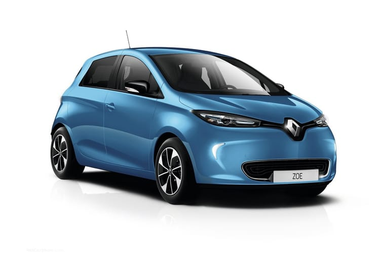Renault Zoe Hatch 5Dr E R135 52kWh 100KW 134PS Iconic Rapid Charge 5Dr Auto front view